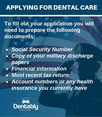 Applying for Dental Care veteran