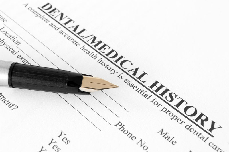 Assessing a Patient's Dental History