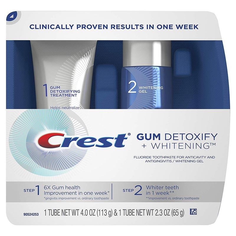 Crest Gum Detoxify + Whitening Two-step Toothpaste