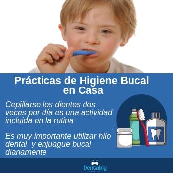 Higiene Bucal en Casa y sindrome de down
