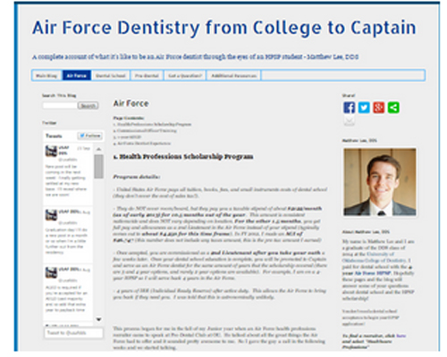 Air Force Dentistry from College to Captain