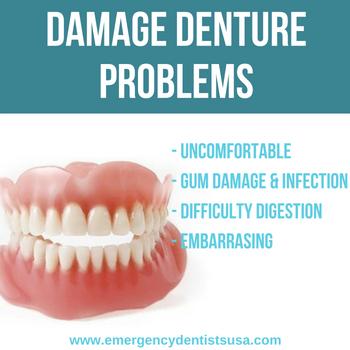 damage denture problems georgia