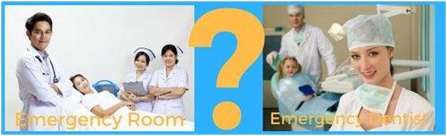 emergency room vs emergency dentist image
