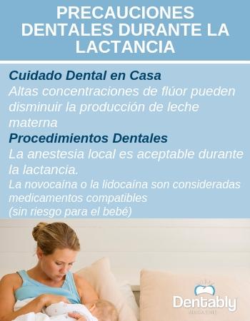 precauciones dentales durante lactancia
