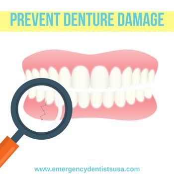 prevent denture damage