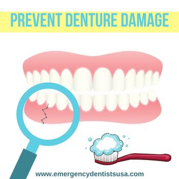 preventing denture damage georgia