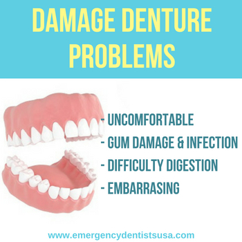 same day dentures north carolina - damaged denture problems