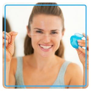 student dental health guide practicing proper oral hygiene at college