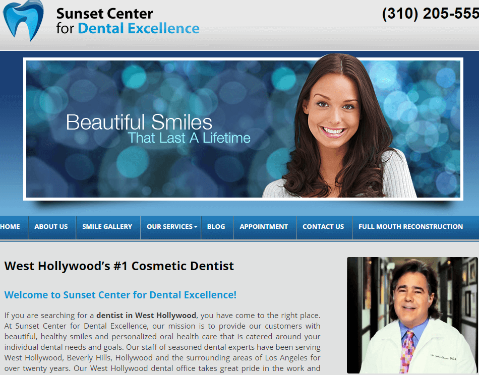 sunset center for dental excellence los angeles